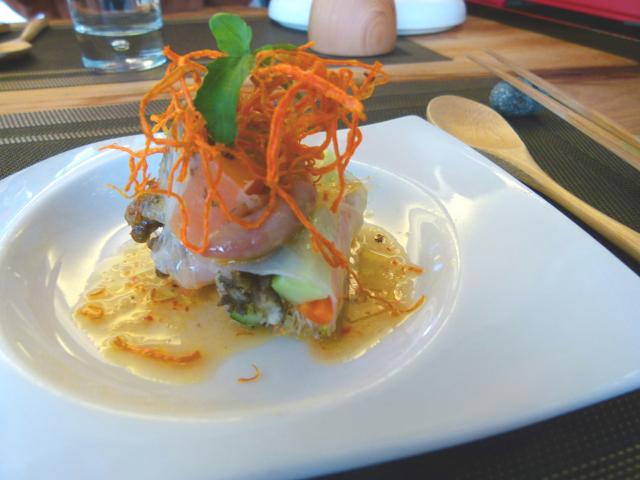 精緻的西式料理包含了部落的山海食材。(攝影/龍芳)