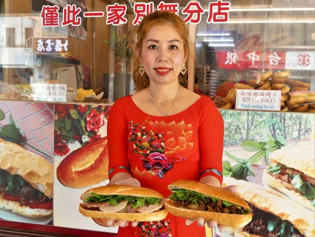 孫嬌娘一手經營的越南法國麵包店。(攝影/賴瑞)