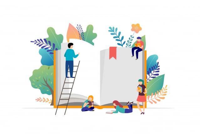 「職想閱讀」為主題規劃活動,推出「職人書包袋著走」服務,民眾只要一張借書證,就可以輕鬆把書「袋」回家。(123RF)