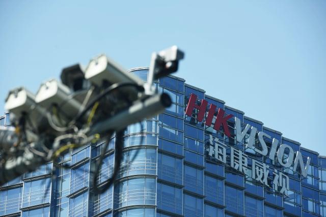 根據行政院送進立法院的調查報告,中央、地方機關及學校所使用的中國廠牌資通設備,以海康威視為最大宗。(STR/AFP via Getty Images)