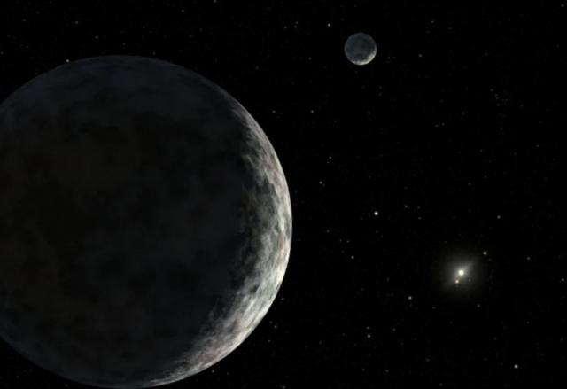 月球的月球Moon-moons月球的衛星要離月球足夠近,被月球的引力牽引,而不會被地球牽引。(NASA)