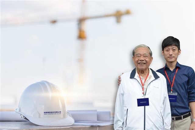 傳承祖輩創業精神,楊得根總裁(左),楊華誌總經理(右)。(裕國建設提供)
