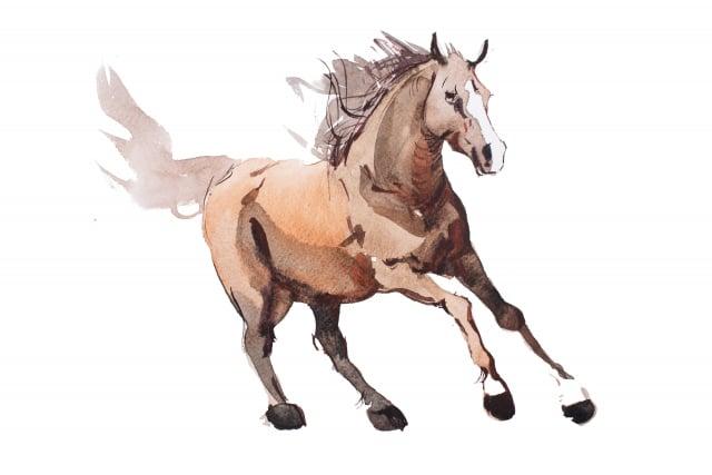 韓幹趕緊回到家,打開畫卷看自己畫的群馬,看到其中有一匹馬的馬腳上有一塊黑缺,韓幹頓時感嘆,畫能通靈啊!(123RF)