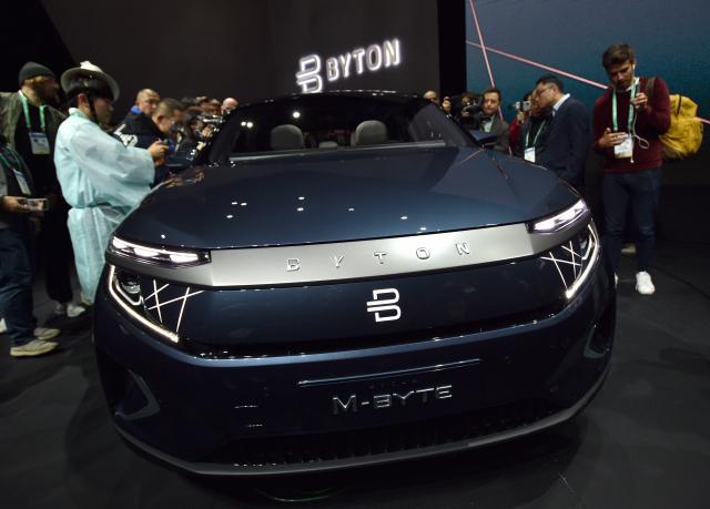 展示會上的拜騰汽車。(Getty Images)