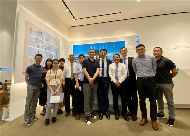 同業參訪右五連雲建設總經理蔡漢霖。(連雲建設提供)
