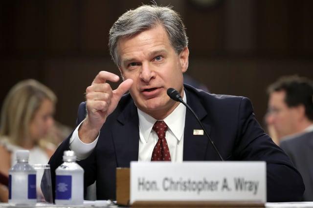 美國聯邦調查局(FBI)局長克里斯托弗·雷(Christopher Wray)揭示中共滲透美國政界的內幕。圖為資料照。(Getty Images)