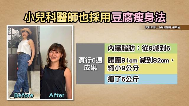 小兒科醫生產後也採用豆腐瘦身法。(TVBS提供)