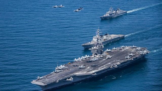 時事評論員文昭坦言,美軍若要重返南海,勢必將清除南沙人工島,因此「必有一戰」的說法並不誇張。圖為示意圖。(Getty Images)