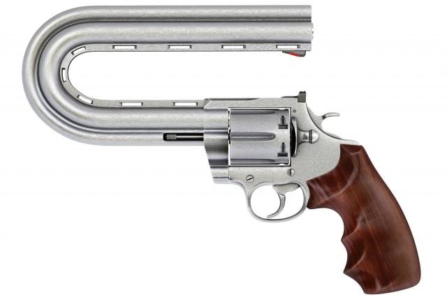 槍管彎曲示意圖。(Shutterstock)