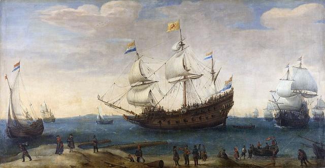 波羅的海近期發現一艘17世紀的荷蘭沉沒商船,儘管沉沒了400年,船體幾乎完好無損。圖為荷蘭17世紀的商船隊。(公有領域)