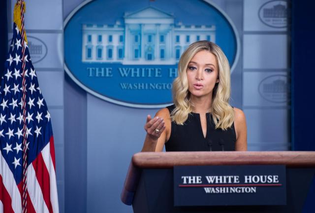 白宮發言人針對美中交鋒問題表示,在疫情上,中共是最大的惡霸。  (SAUL LOEB/AFP via Getty Images)