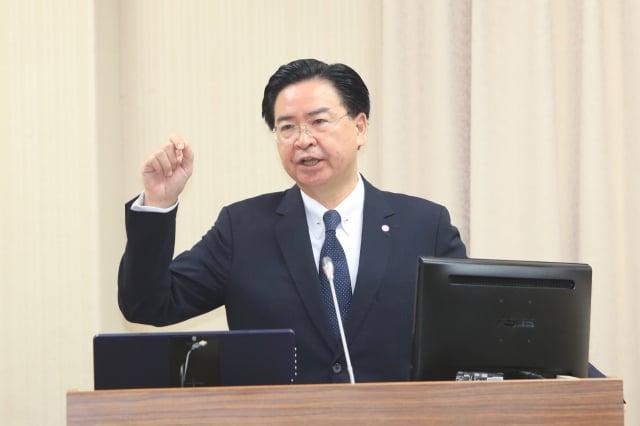 外界關注臺美是否有復交的可能,不過外交部長吳釗燮日前在美媒專訪中表示,在這個時間點,不會尋求建交。(中央社)