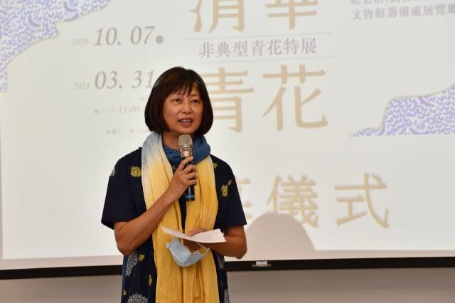 臺大藝術史所教授施靜菲致詞。