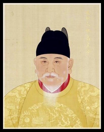 明太祖朱元璋戴翼善冠的畫像。(維基百科)
