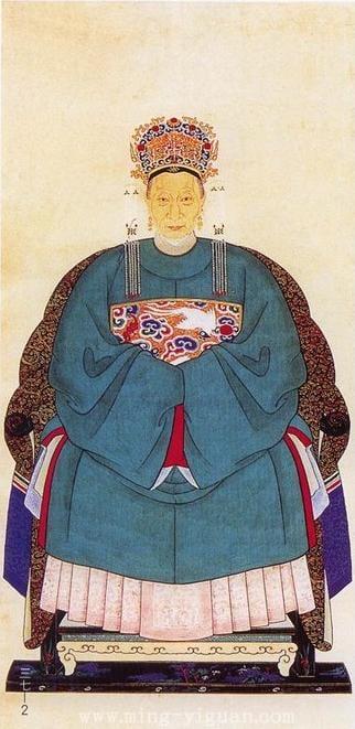 明代命婦圓領袍。(維基百科)