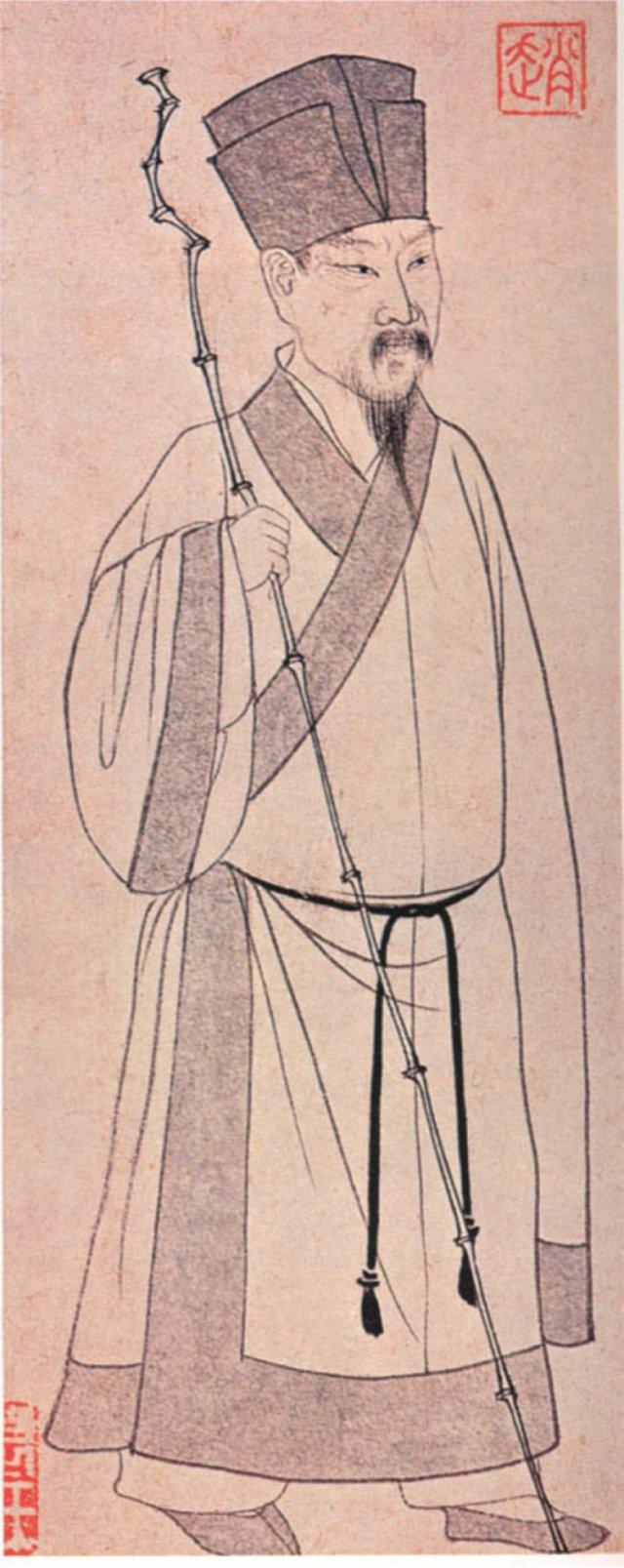 宋朝服飾,圖為蘇軾像。(維基百科)