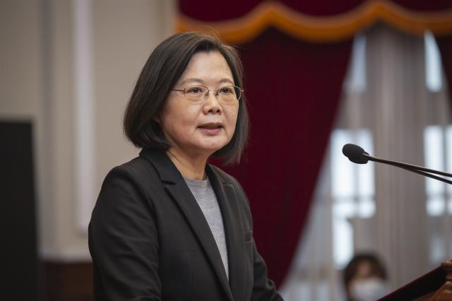 總統蔡英文30日表示,在後疫情時代,全球供應鏈重組變局,臺灣不只要再一次擦亮「MIT」招牌,更要做到「MIT upgrade(升級)」。(中央社)