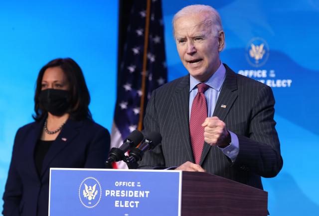 美國總統當選人拜登1月14日晚間宣布了規模1.9兆美元的紓困方案,以應對當前美國的中共病毒疫情。(Chip Somodevilla/Getty Images)