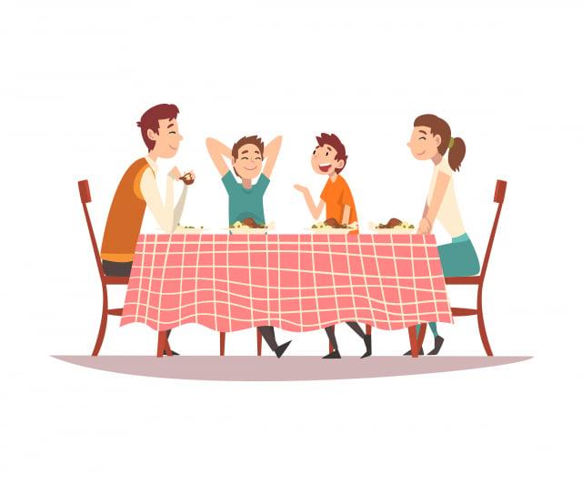 全家人就可以圍坐在一起,享受好吃的晚餐。晚餐時間是我最快樂的天倫時光。(123RF)