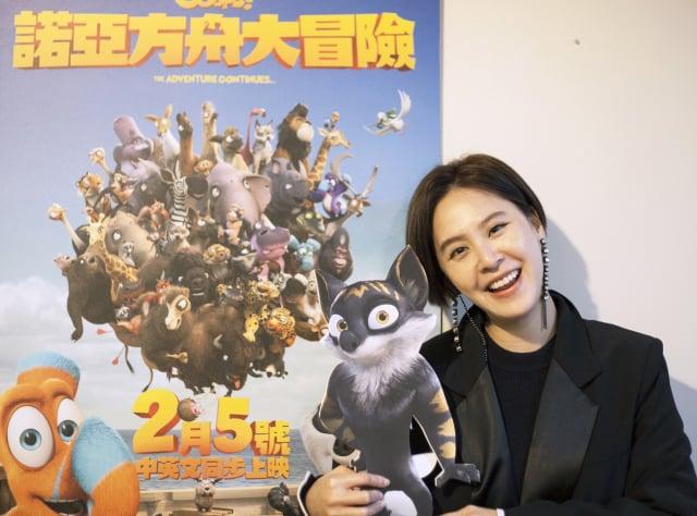 黃小柔在電影《諾亞方舟大冒險》中扮演貍狼媽媽海柔。(希望行銷娛樂提供)