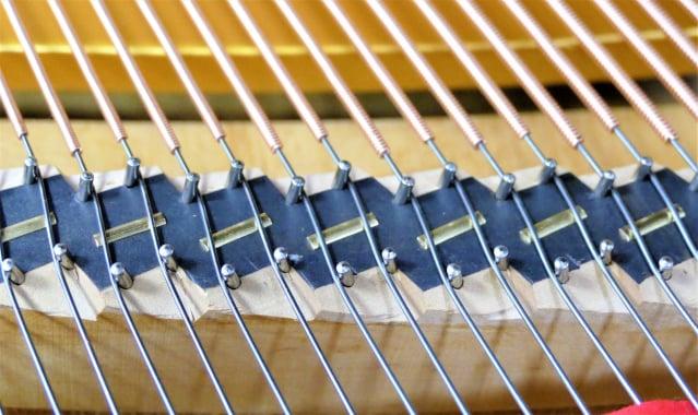 陳清流想到在鋼琴的琴橋上加裝一片小小的銅片,於今年2月25日獲得「鋼琴琴橋結構」的專利權,更擁有20年的專利權限。