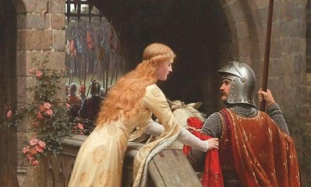 騎士已經死了嗎?摘自埃德蒙·萊頓(Edmund Leighton)的《上帝的速度》(God Speed),1900年。(公共領域)