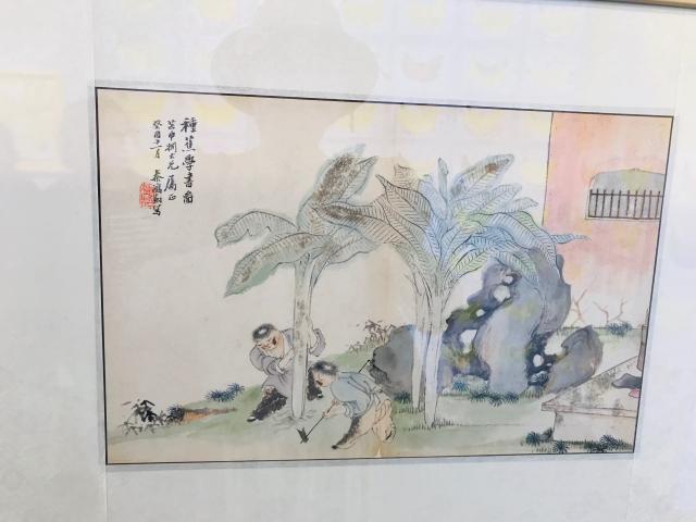 蕭蕉水墨畫。(朱孝貞/攝影)