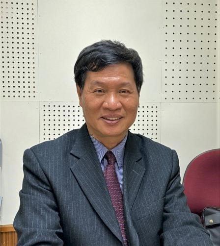 讀報,是一種沒有壓力的閱讀,雲林縣大德工商副校長 張錫輝博士。(吳雁門提供)