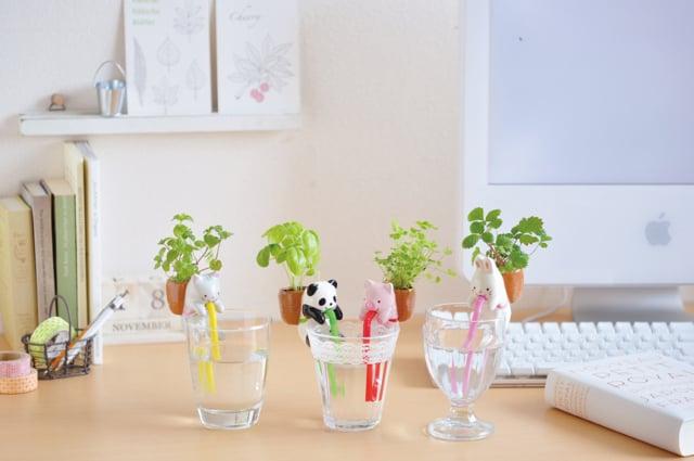 對於工作壓力大而可能導致不快樂的火象星座們,造型小植栽可舒緩壓力。(誠品提供)