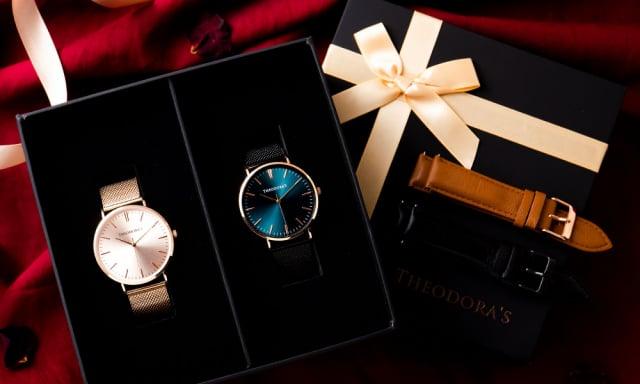 希奧朵拉Hera經典對錶禮盒,為戀人感情加溫更歷久彌新。(Theodora
