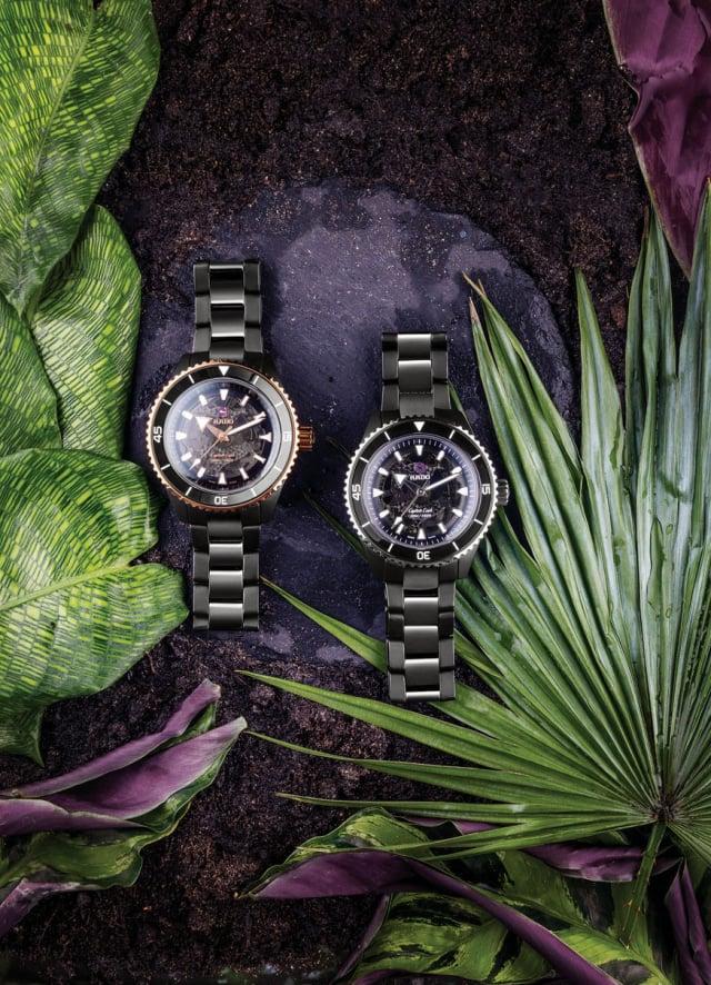 Captain Cook庫克船長高科技陶瓷鏤空自動腕錶。(Rado瑞士雷達表提供)