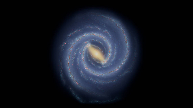銀河系。(NASA/JPL-Caltech)