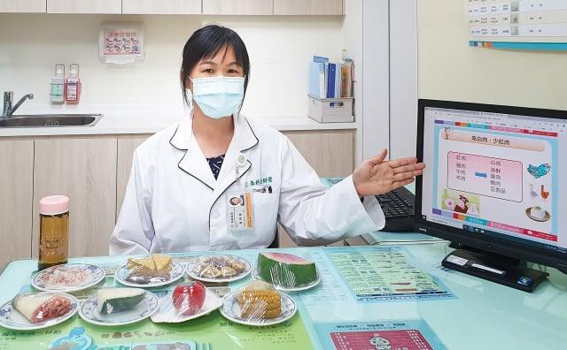 東元綜合醫院營養師黃詩瑩提醒,中秋節邊烤肉邊聊天,不知不覺容易吃進過多的食。(東元綜合醫院提供)