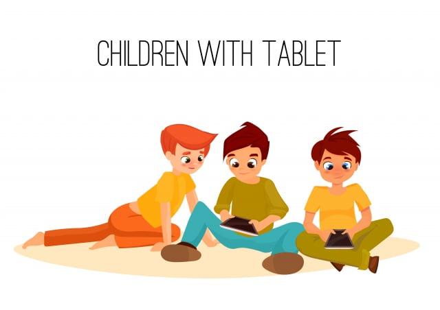 經過多年研究如何調節孩子看電子螢幕的時間,發現最成功的父母如何幫助他們的孩子找到平衡。(123RF)