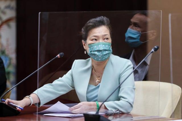 經濟部長王美花公布台電停電跳機懲處。(中央社)