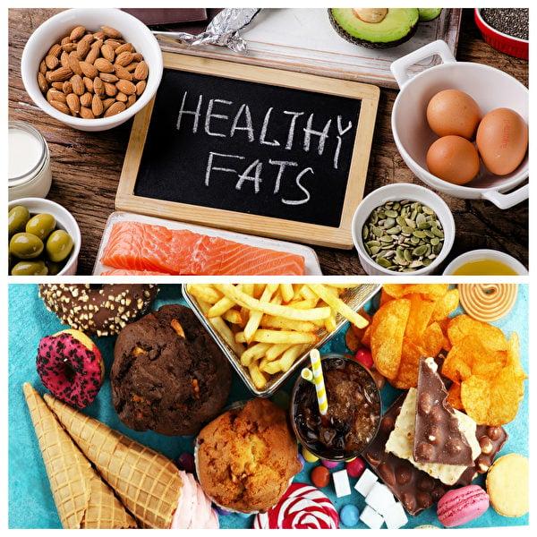 正確飲食重點在於懂得分辨好脂肪和壞脂肪,適量攝取好脂肪(如上圖),少碰壞脂肪(如下圖),生理功能才能正常運轉。(Shutterstock)