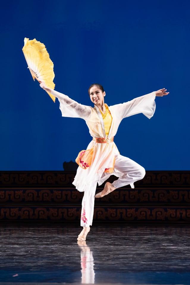 來自紐約飛天大學的第九屆全世界中國古典舞大賽參賽選手林安琪(愛德華/大紀元)