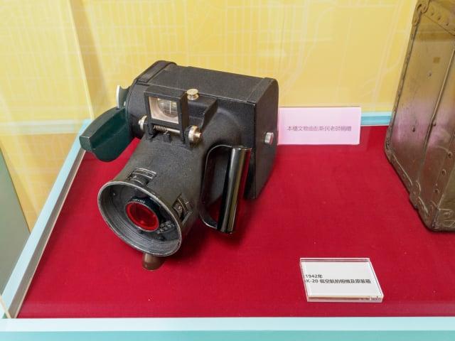 首次展出的低空航拍相機K-20全球僅一萬五千台。(文化局提供)