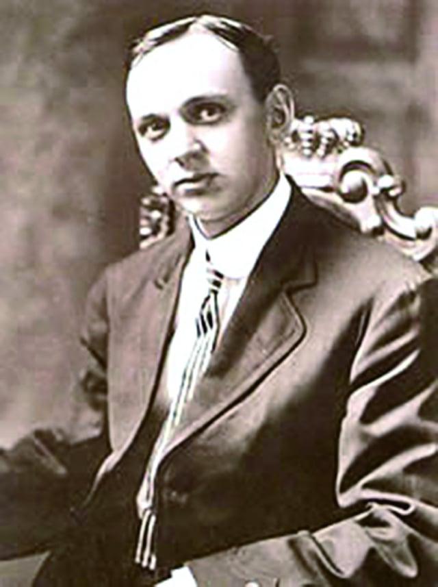愛德加.凱西(Edgar  Cayce)於1910 年刊登在紐約時報上的照片。(公有領域)