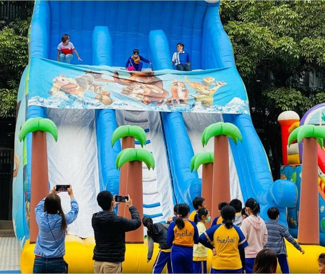 園區也在於活動日特別邀請巨型充氣樂園進駐。