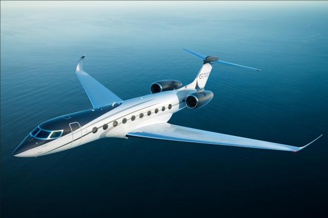 由漢翔負責承製核心零組件的勞斯萊斯發動機(型號Pearl 700 Advance 2),搭載於灣流(Gulfstream)新世代商務機G700。(Gulfstream官網)