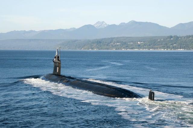 美國、英國及澳洲共組「AUKUS」印太安全防衛聯盟,助澳洲打造核動力潛艦。圖為美軍的核潛艦。(美國太平洋艦隊Flickr)