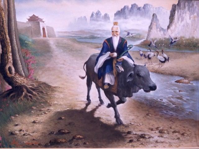 老子騎牛圖。(維基百科)
