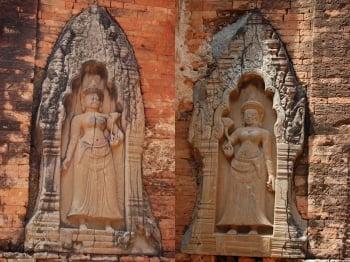 羅蕾寺門楣上的敷泥雕刻。