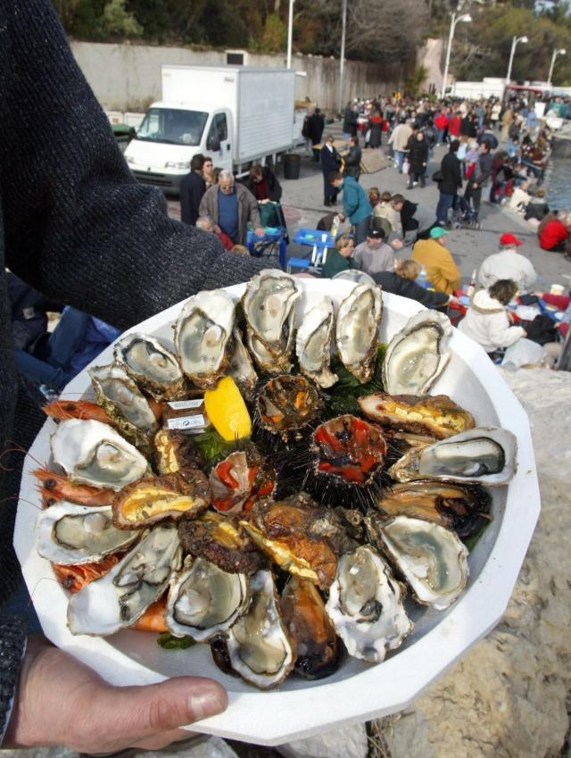 諾曼地獨特的美食便是海鮮。 (AFP )