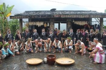 布農族卓社群特有的感恩祭。(記者黃淑貞/攝影)