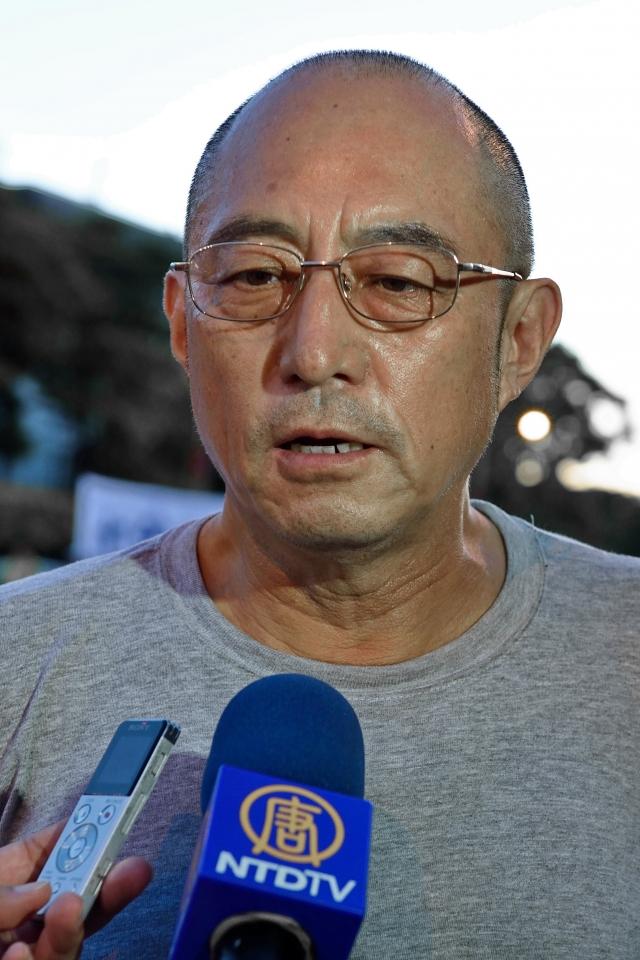中國流亡作家袁紅冰表示,放行人權惡棍強衛入台,是對台灣民主自由最大的汙辱。(記者孫湘詒/攝影)
