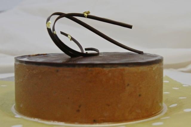 覆盆子巧克力慕斯蛋糕。(記者許享富/攝影)