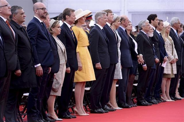 18日是滑鐵盧戰役200週年紀念,歐洲各國政要齊聚滑鐵盧紀念這個帶來和平的重要日子。(AFP/Getty Images)
