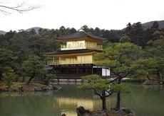日本京都的金閣寺舍利殿。 (記者工優美/攝影)